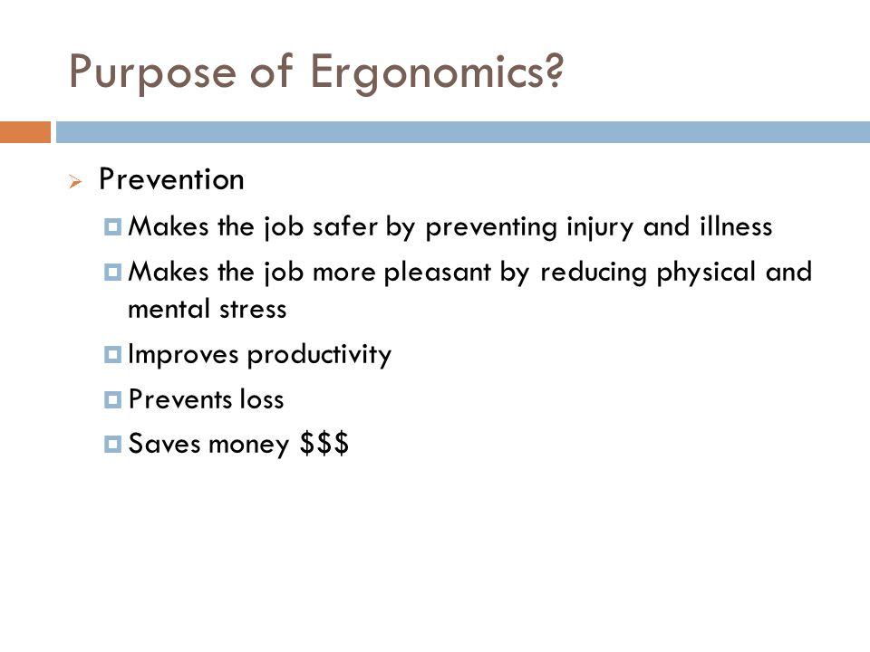 Purpose of Ergonomics.