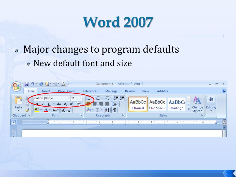Major changes to program defaults New default font and size