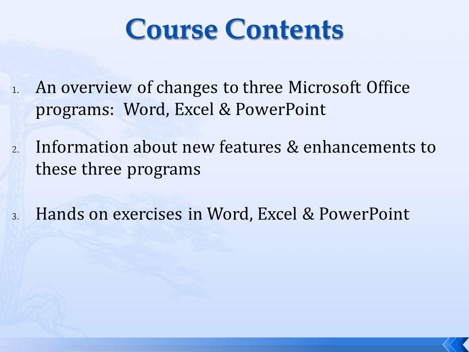 Course Contents 1.