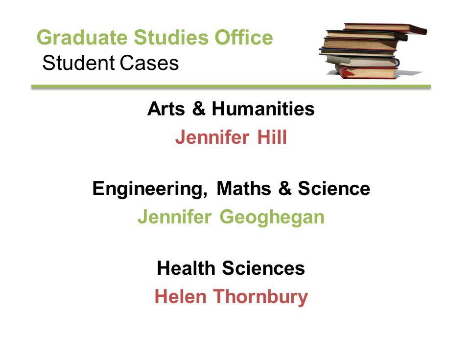 Graduate Studies Office Financial Assistance for Students College Awards Jennifer Geoghegan Student Assistance Fund Jennifer Hill Travel Grants Helen Thornbury