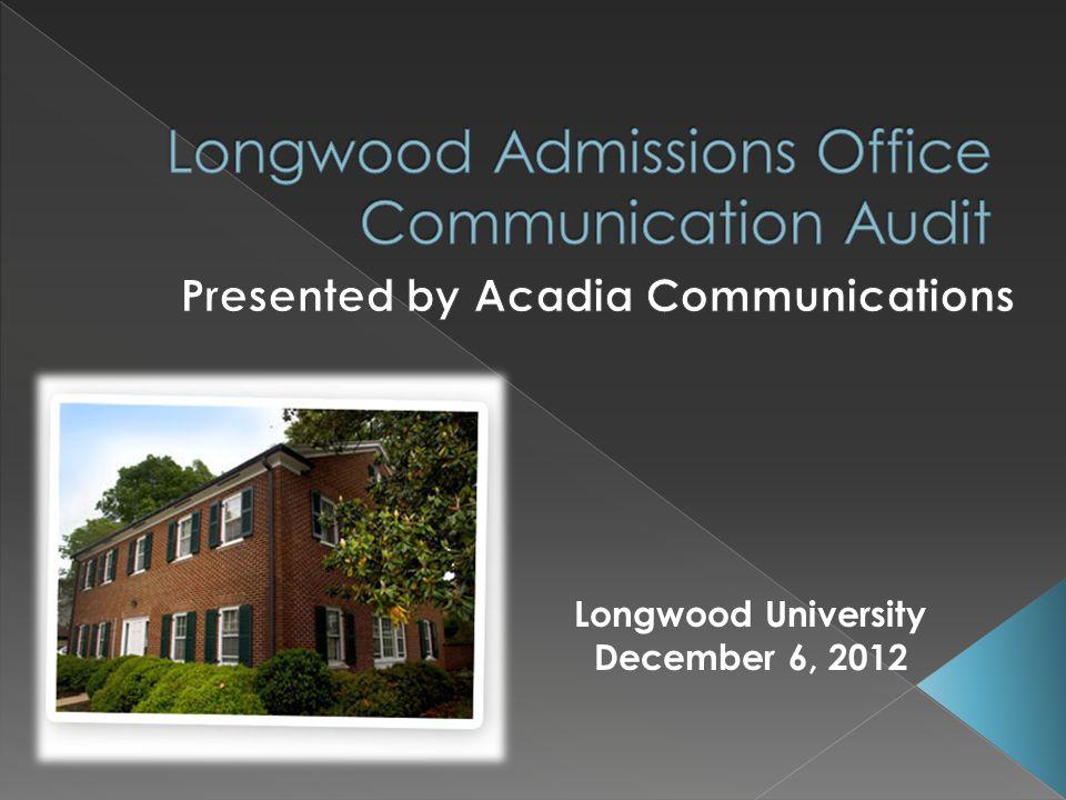 Longwood University December 6, 2012