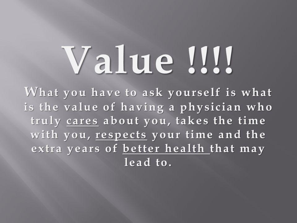 Value !!!.