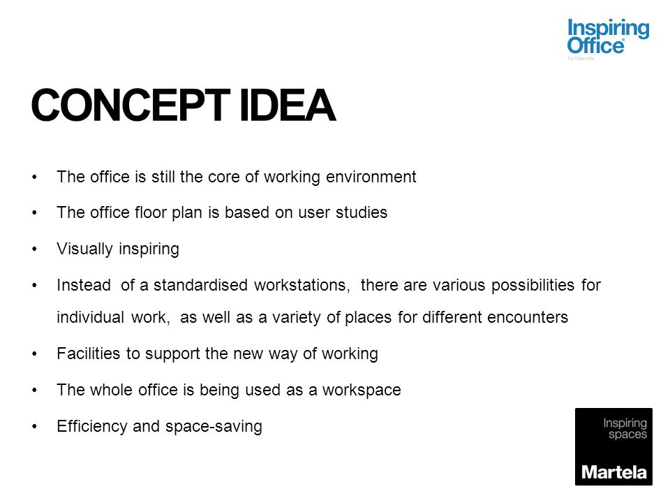 BENEFITS ALL WORKING DAY Employee self estimate Away Temporarily away Collaboration Individual work Activity Based Office can increase space utilization efficiency by up to 40 percent.