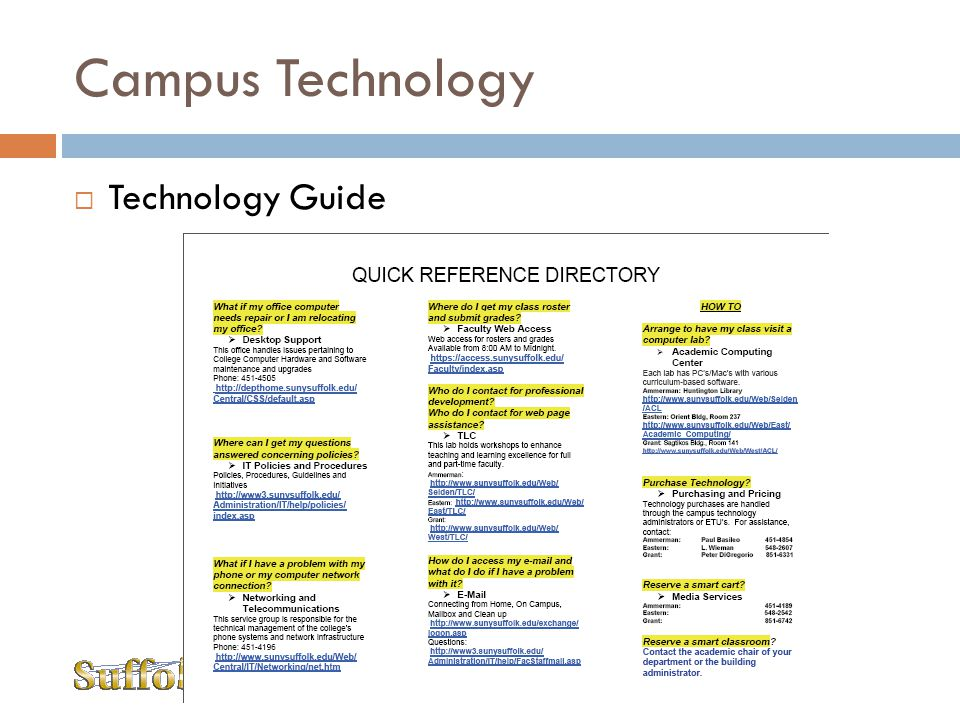 Campus Technology Technology Guide