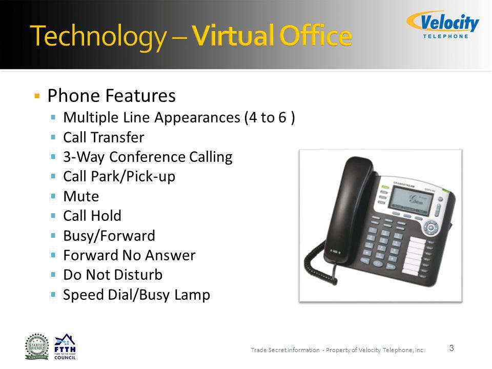 Phones 4 Trade Secret Information - Property of Velocity Telephone, Inc.