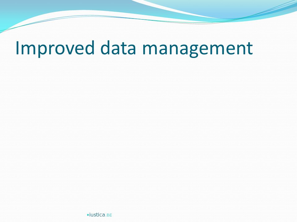 Improved data management iustica.BE