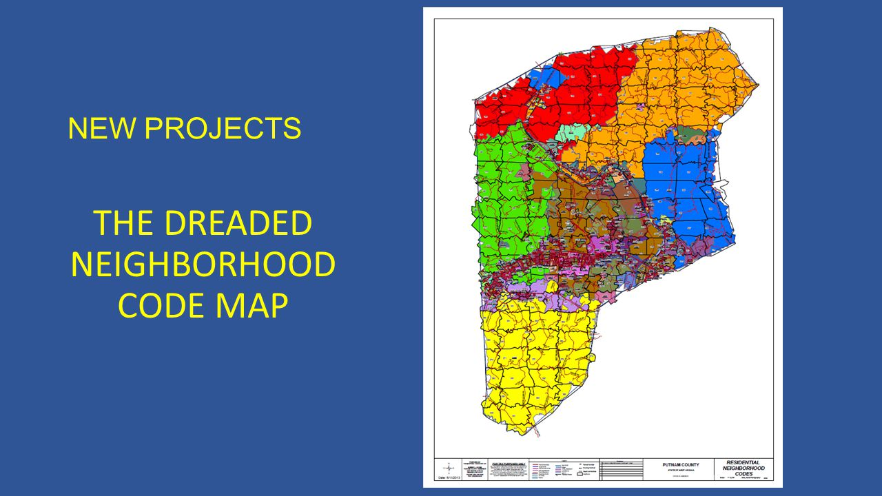 NEW PROJECTS THE DREADED NEIGHBORHOOD CODE MAP