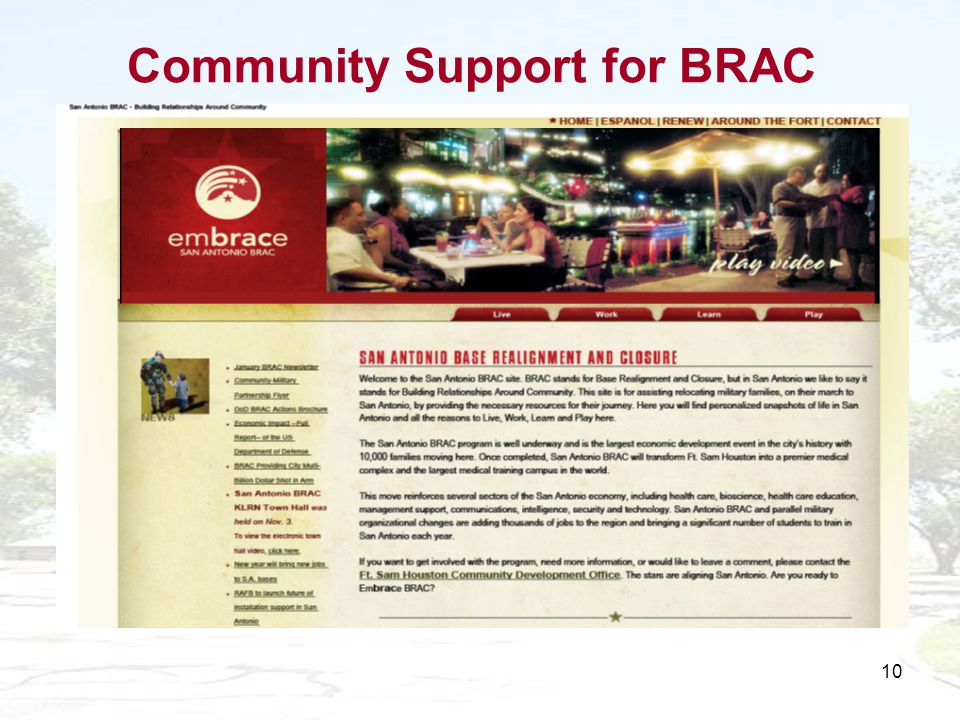 10 Community Support for BRAC