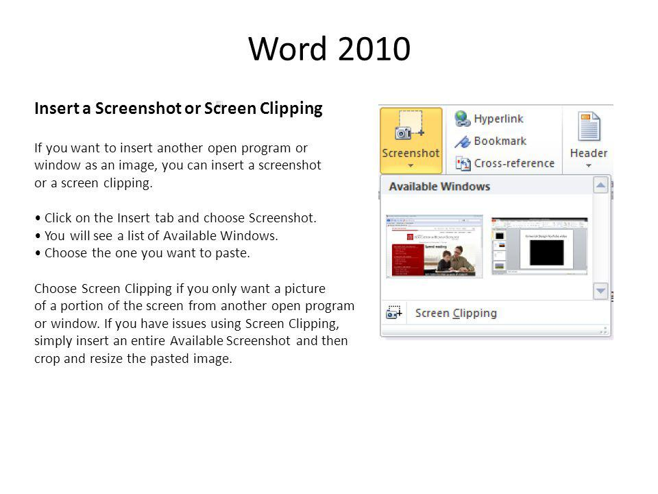 Word 2010 Background Removal Tool While there are a variety of new effects and color corrections you can apply to images in Word 2010, the Background Removal tool is probably the most notable.