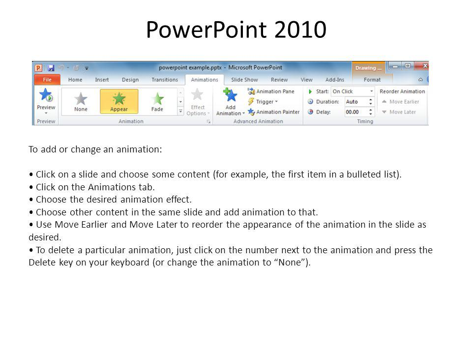 PowerPoint 2010 Insert a video from your computer and edit it By default, PowerPoint 2010 now makes any video you insert a part of the PowerPoint file.