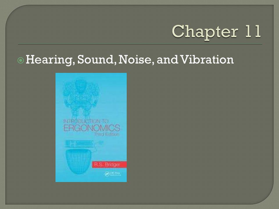 Hearing, Sound, Noise, and Vibration
