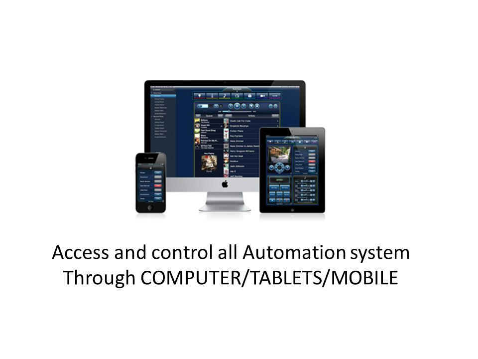 Access and control all Automation system Through COMPUTER/TABLETS/MOBILE