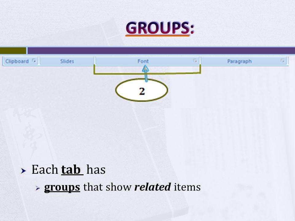 button, dialog box or menu. 3