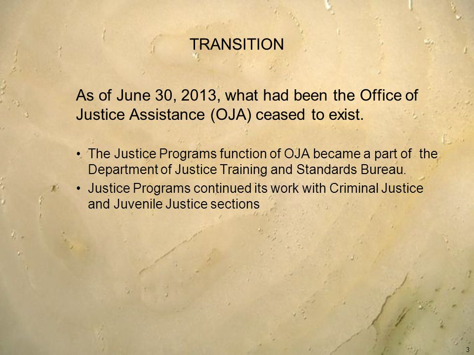 JUVENILE JUSTICE The Juvenile Justice and Delinquency Prevention Act (JJDPA) (Part B, Title II 42 U.S.C.