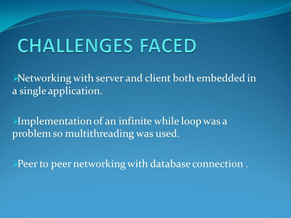 Networking with server and client both embedded in a single application.