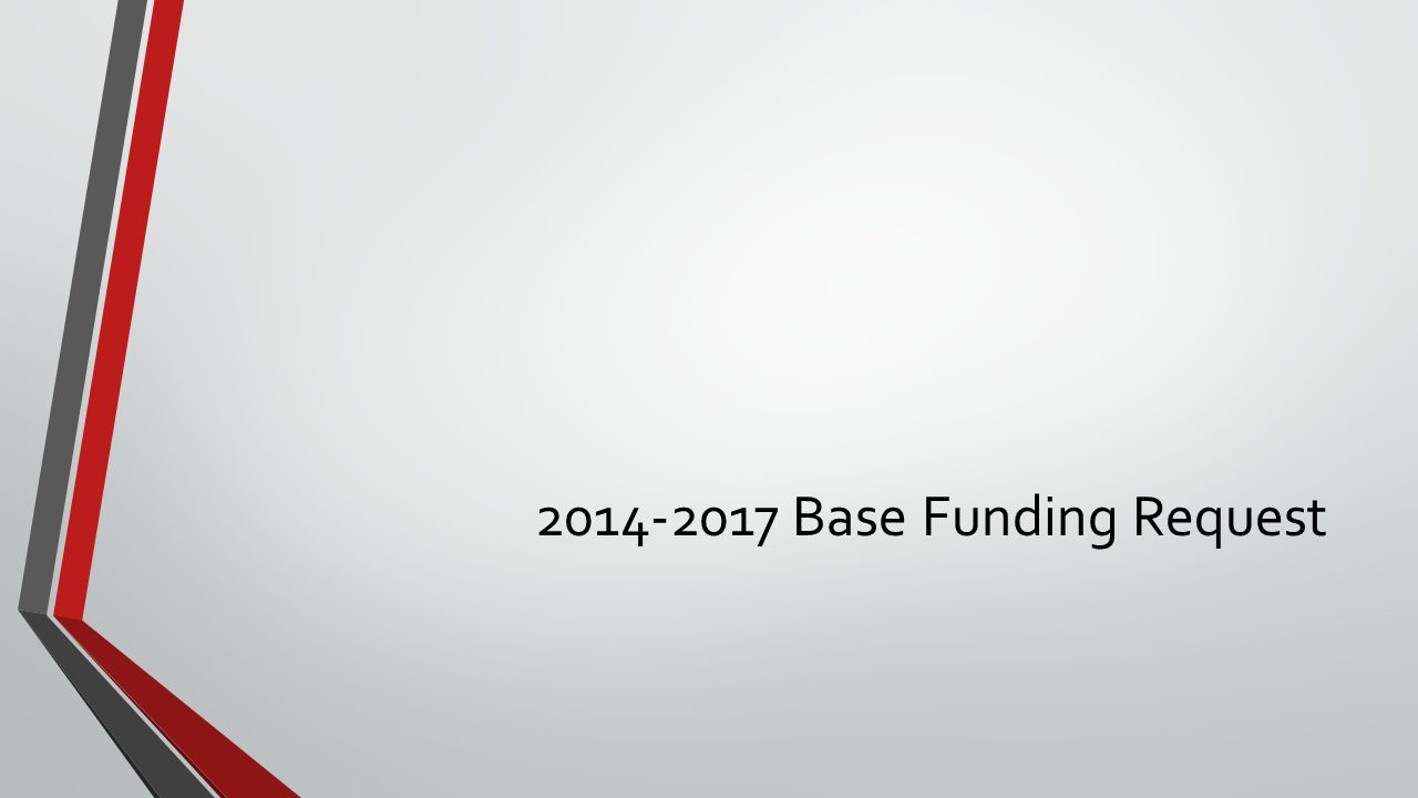 2014-2017 Base Funding Request