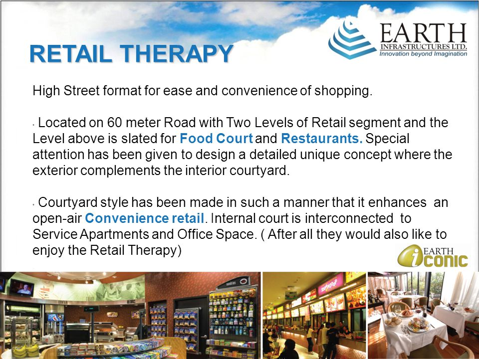 High Street format for ease and convenience of shopping.