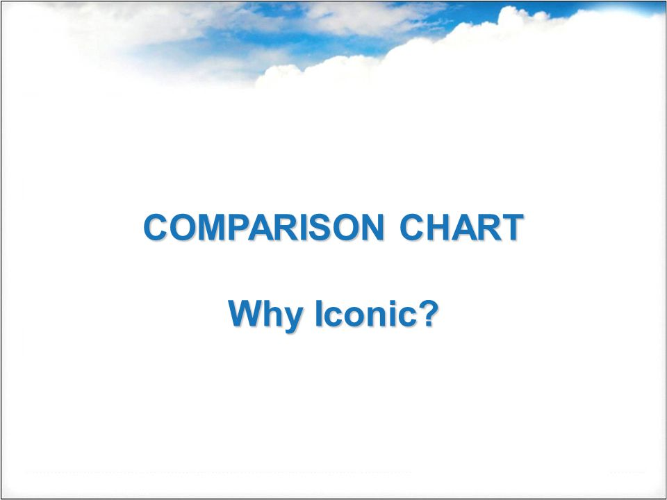 COMPARISON CHART Why Iconic?