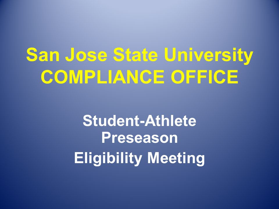 % of Degree Rule In order to be eligible for competition, you must: Declare a major by the start of your junior year.