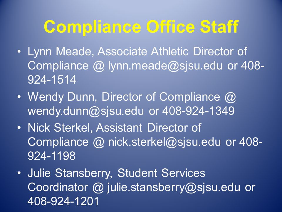 Where is the Compliance Office.