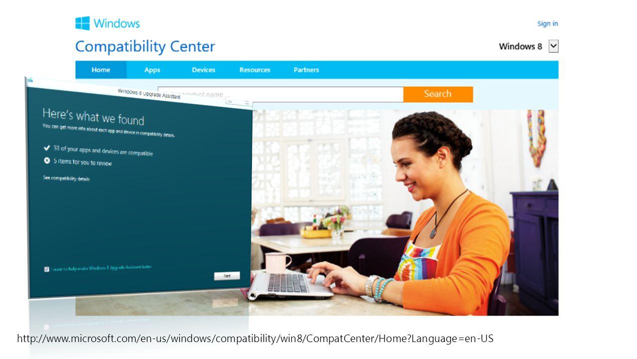 http://www.microsoft.com/en-us/windows/compatibility/win8/CompatCenter/Home?Language=en-US