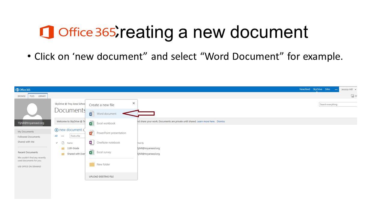 Printing Word Documents. Select printer and print file.