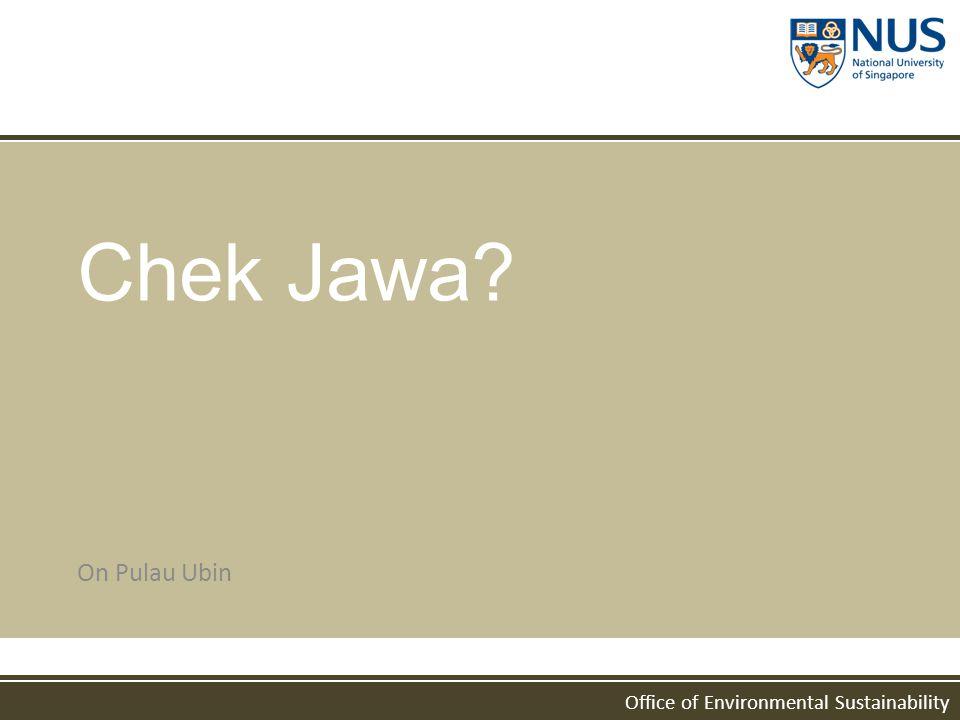 Office of Environmental Sustainability Chek Jawa? On Pulau Ubin