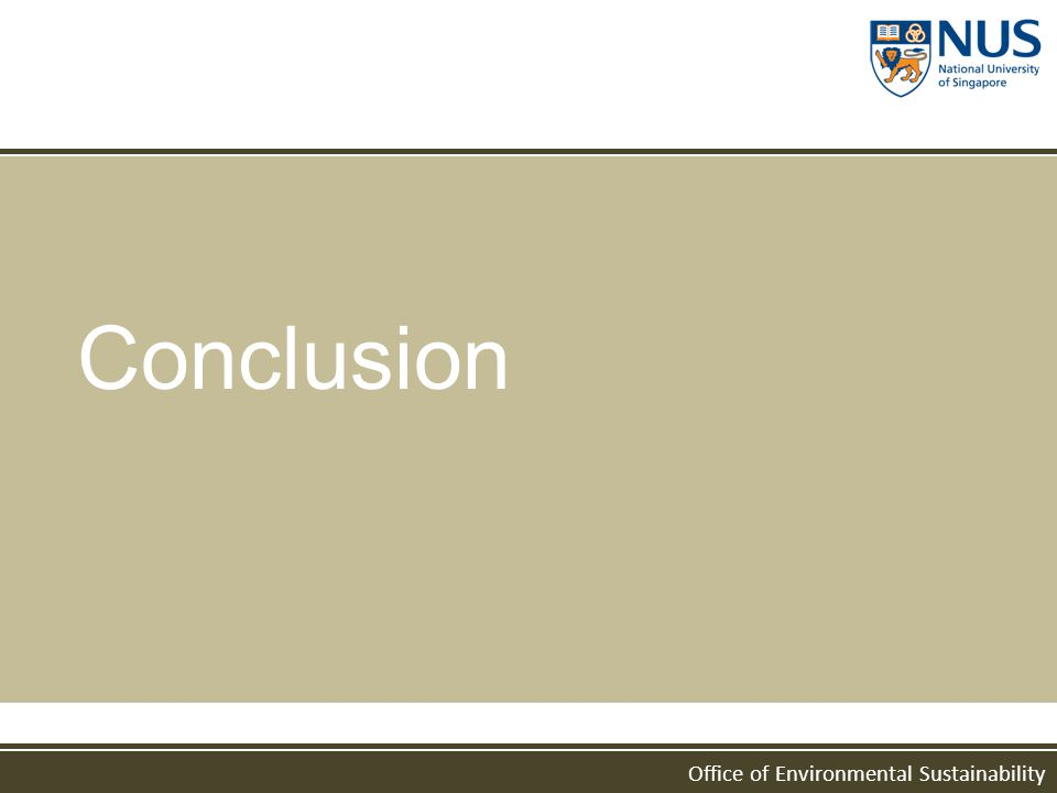 Office of Environmental Sustainability Conclusion