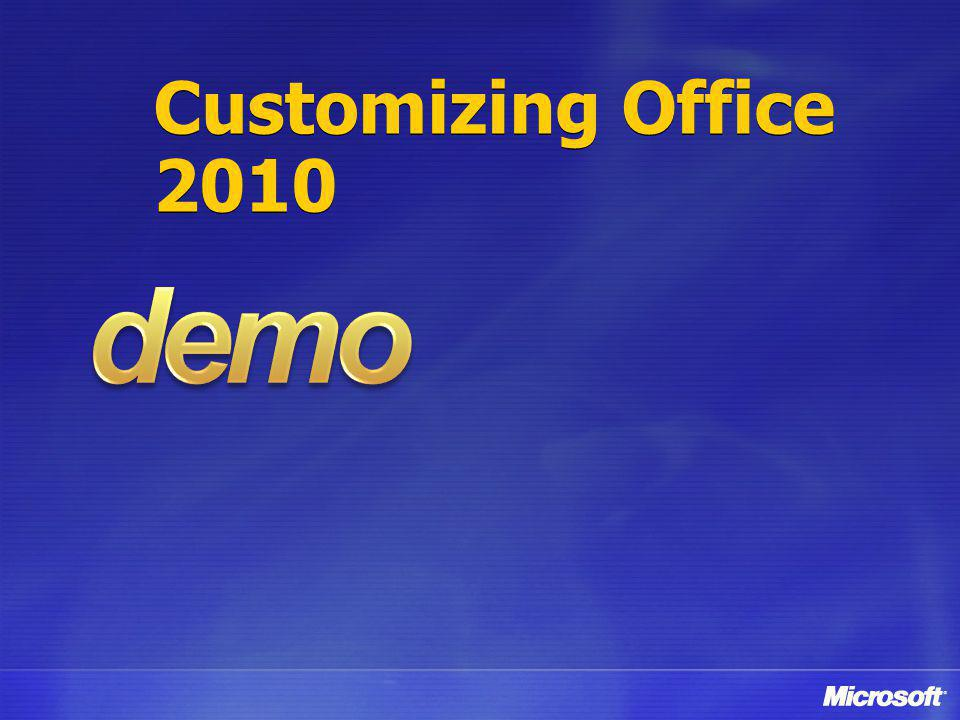 Customizing Office 2010