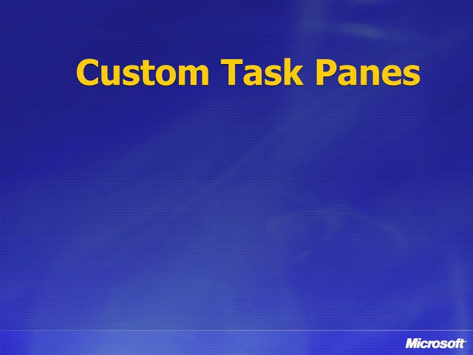 Custom Task Panes
