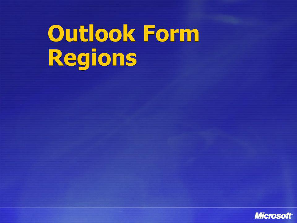 Outlook Form Regions