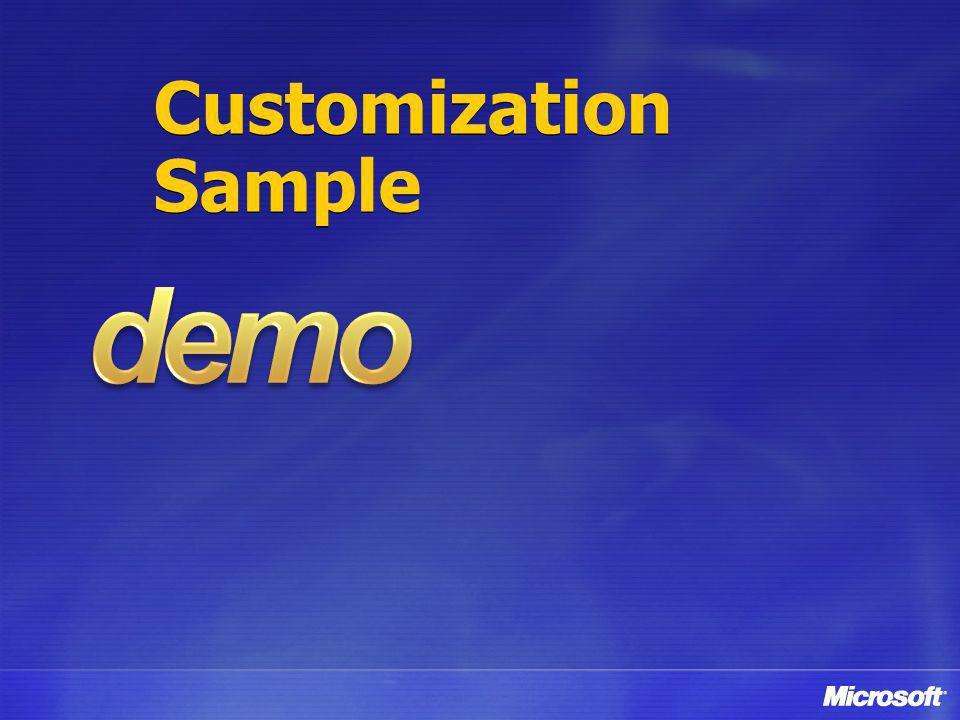 Customization Sample