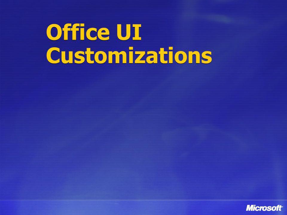 Office UI Customizations
