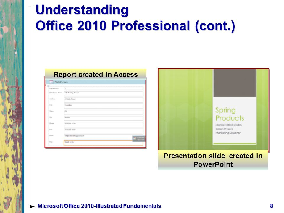 Starting an Office Program You can launch, or start the Office program many ways, such as using the Start button and All Programs In the program window you will be working with a user interface, which is a collection of buttons and tools used to interact with software programs 9Microsoft Office 2010-Illustrated Fundamentals