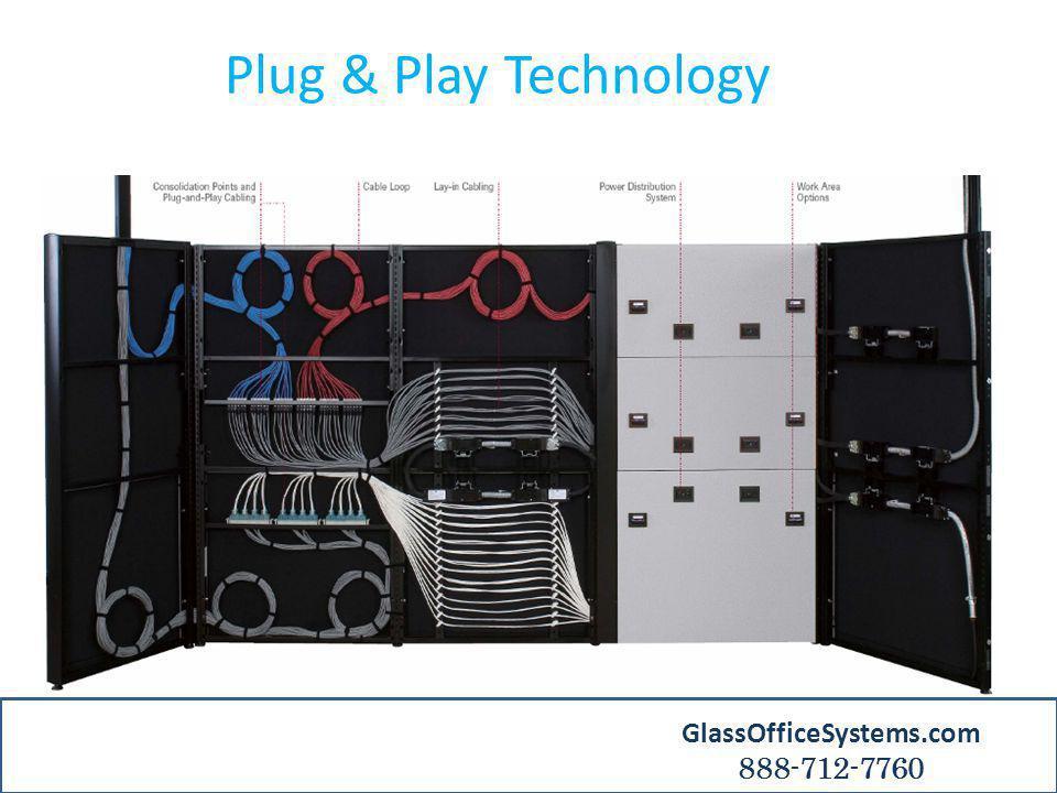 Plug & Play Technology GlassOfficeSystems.com 888-712-7760