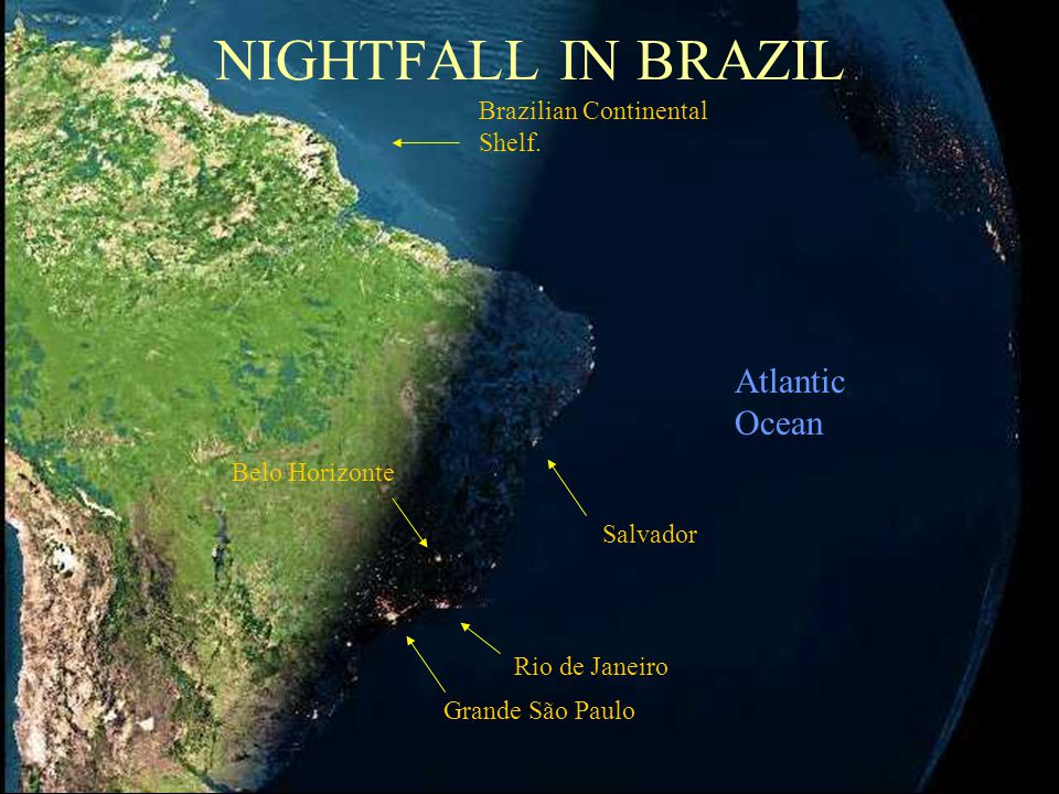 France Iceland Italy ContinentalShelf England ÁFRICA Already night time here. Spain Atlantic Ocean Cabo Verde Island Canary Islands Islas de la Madera