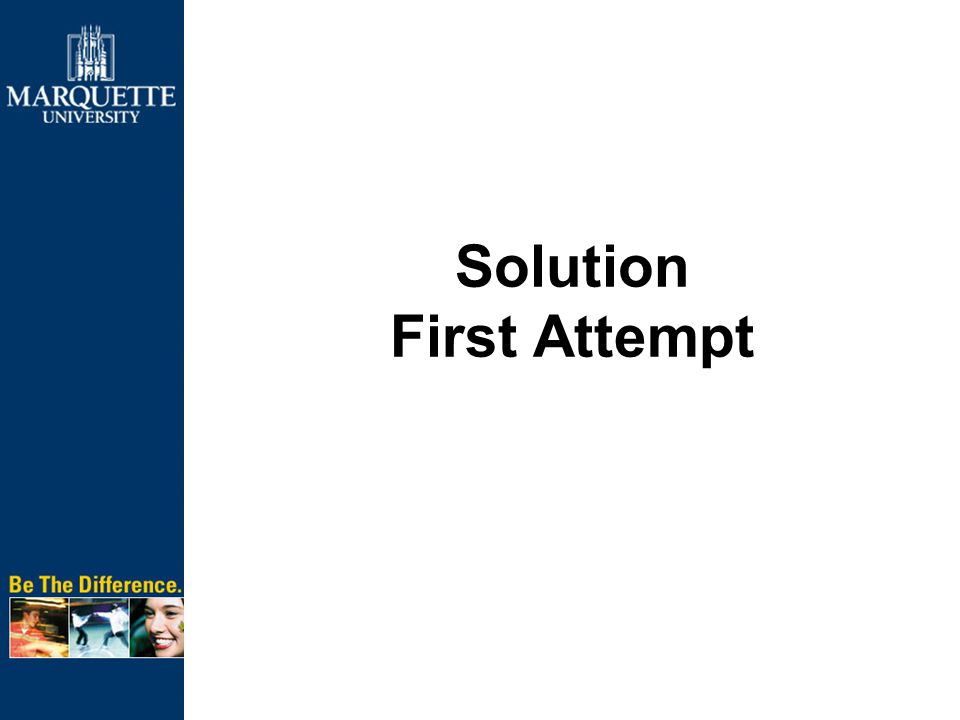 First Attempt Inventory projects –Current, approved and pending –Prioritize current projects Schedule projects and set end-dates Require project plans Implement Project Server Trained staff