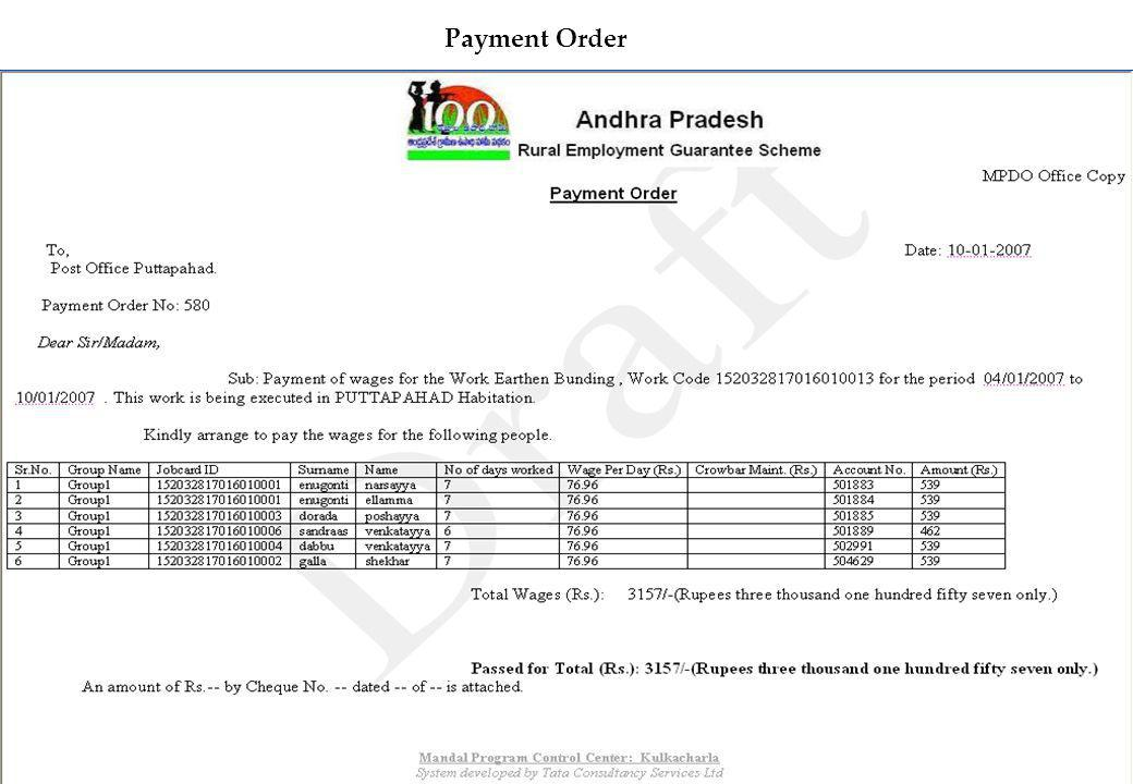 4 Payment Order