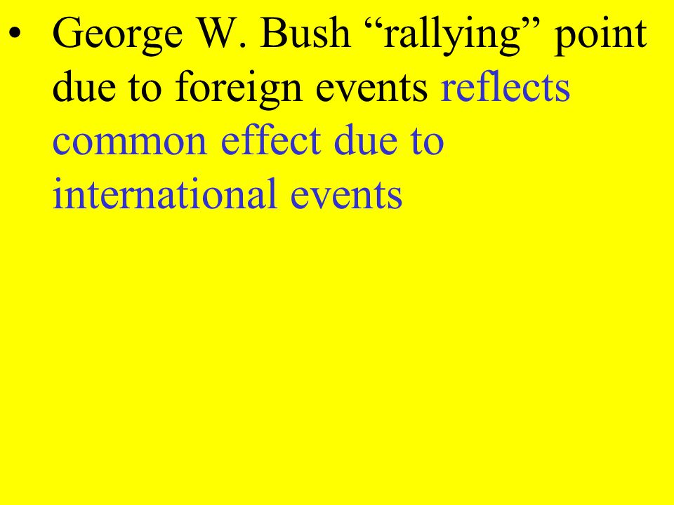George W. Bush rallying point due to foreign events reflects common effect due to international events
