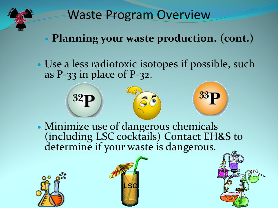 Waste Program Overview Planning your waste production.