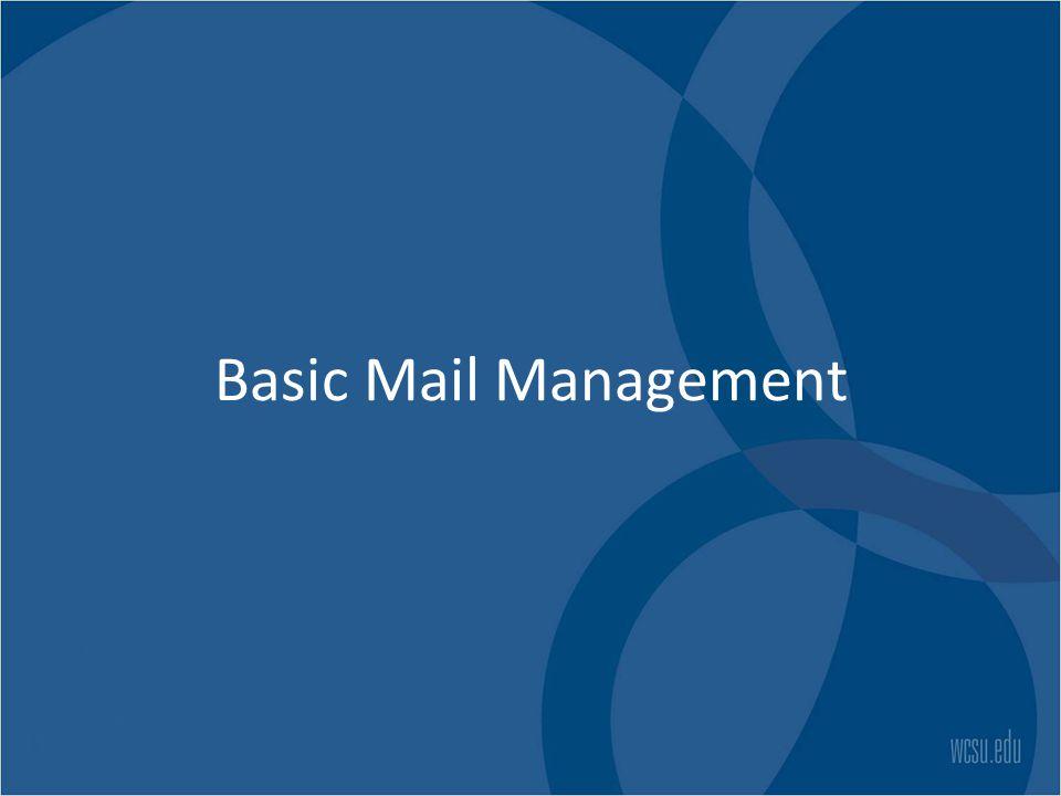 Basic Mail Management