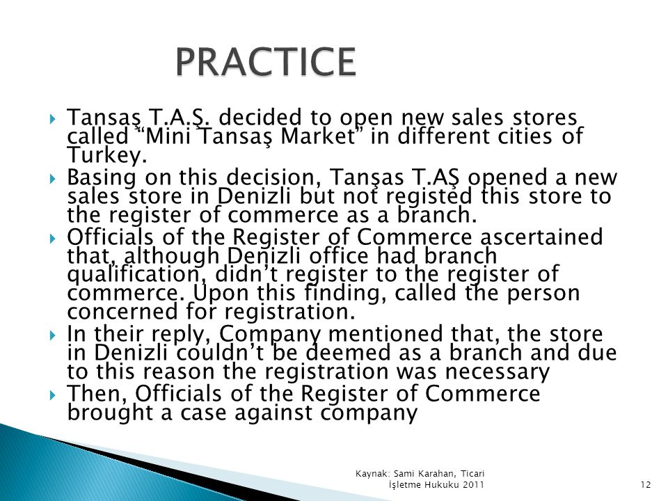Tansaş T.A.Ş. decided to open new sales stores called Mini Tansaş Market in different cities of Turkey. Basing on this decision, Tanşas T.AŞ opened a