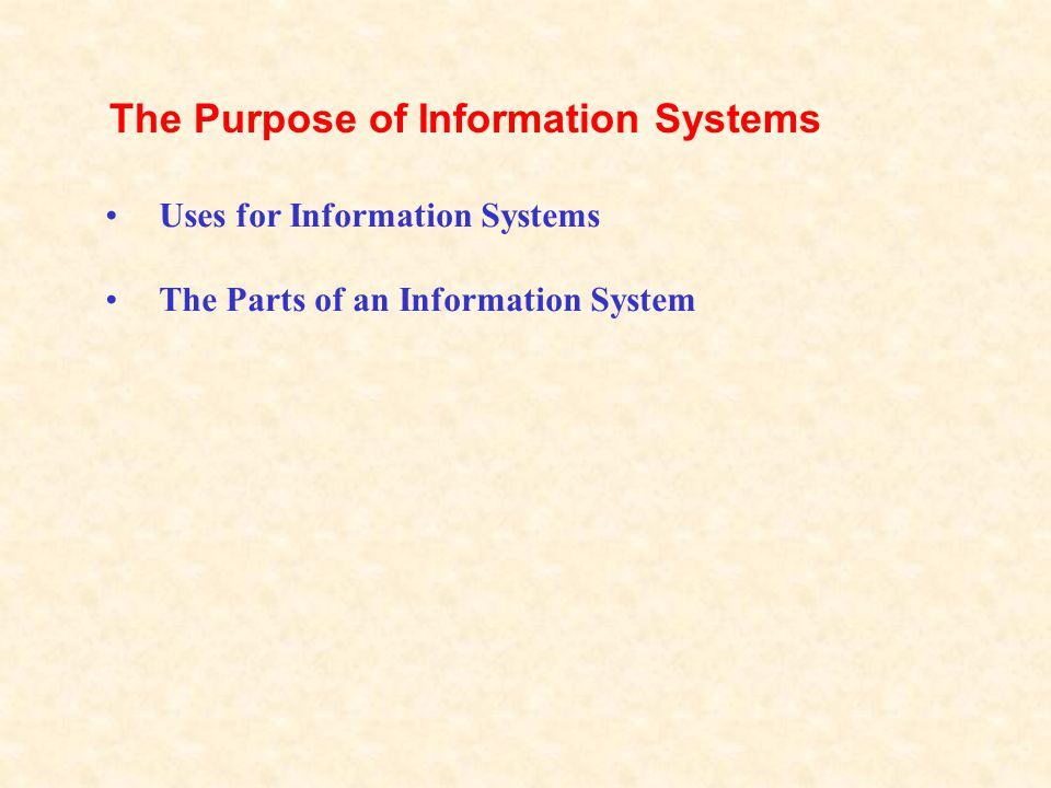 The Basics of Information Systems lesson 25