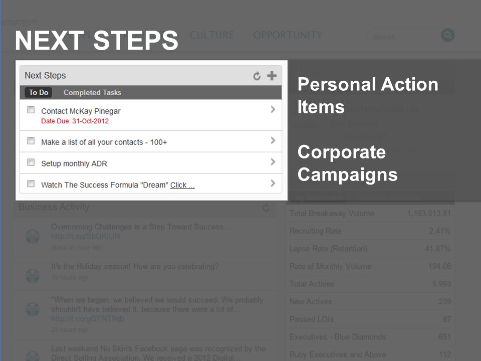 NEXT STEPS Personal Action Items Corporate Campaigns