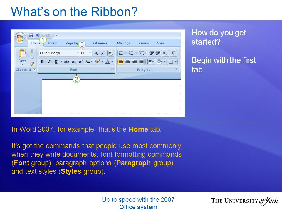 Up to speed with the 2007 Office system Whats on the Ribbon.