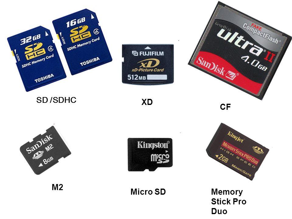 SD /SDHC XD CF M2 Micro SDMemory Stick Pro Duo