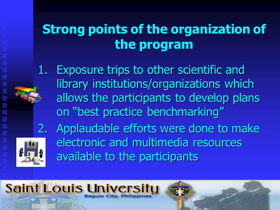 Best components of the program academic contents 1.