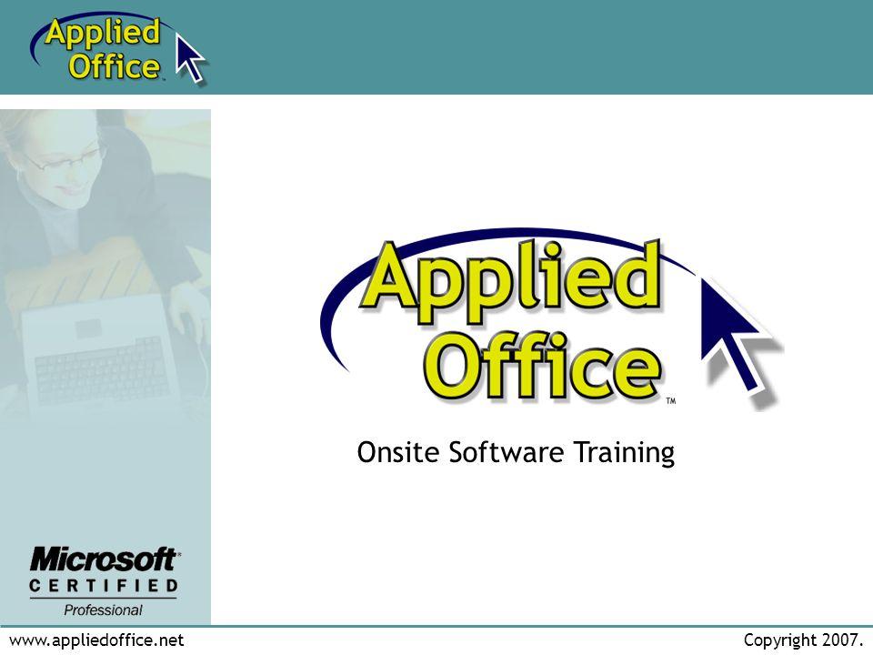 www.appliedoffice.netCopyright 2007.