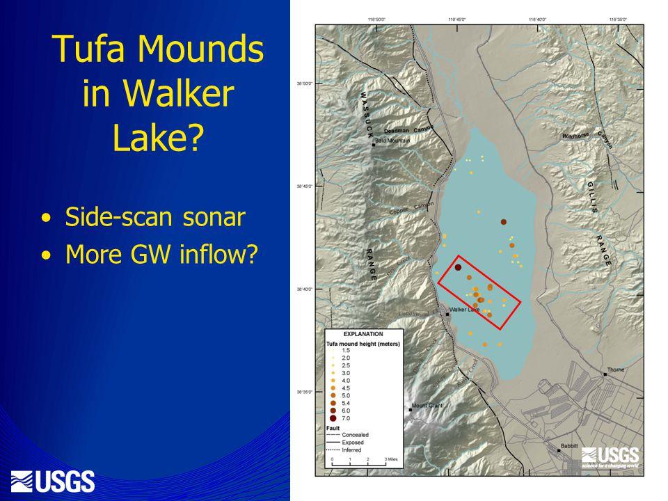 Tufa Mounds in Walker Lake Side-scan sonar More GW inflow