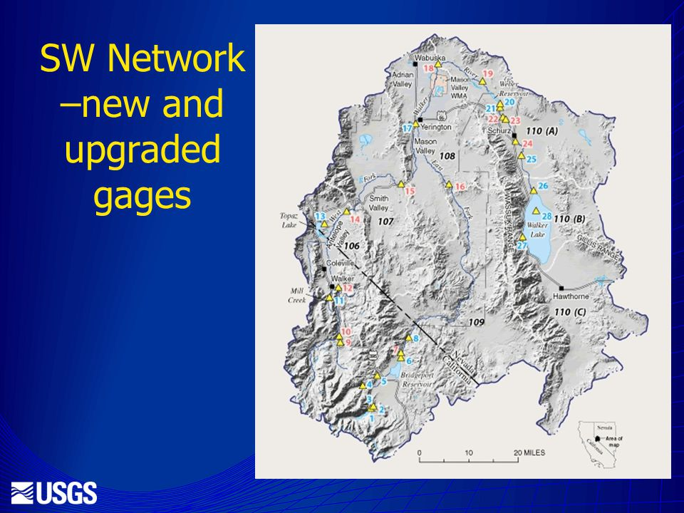 SW Network –new and upgraded gages
